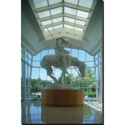 Stretched Canvas Print: Statue in the National Cowboy Hall of Fame, Oklahoma City, Oklahoma, USA: 44x29in found on Bargain Bro Philippines from Art.com for $200.00