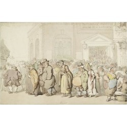 Giclee Print: Providence Chapel (Pen and Black and Brown Ink and Watercolour, over Faint Indications in Graphite) by Thomas Rowlandson: 24x18in