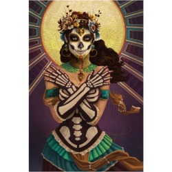 Art Print: Day of the Dead - Crossbones by Lantern Press: 24x16in found on Bargain Bro India from Art.com for $35.00