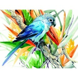 Giclee Print: Conure Tropical 2 by Suren Nersisyan: 36x48in found on Bargain Bro Philippines from Art.com for $135.00