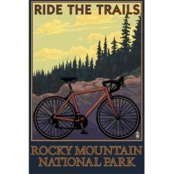 Art Print: Rocky Mountain National Park, Co - Mountain Bike, c.2009 by Lantern Press: 24x18in