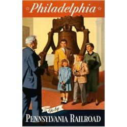 Giclee Print: Philadelphia - Go by. Pennsylvania Railroad by Kirt Baab: 20x16in