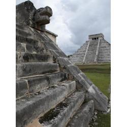 Photographic Print: Venus Platform With Kukulkan Pyramid in the Background, Chichen Itza, Yucatan, Mexico: 24x18in