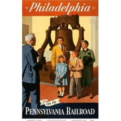 Art Print: Philadelphia - Go by. Pennsylvania Railroad by Kirt Baab: 18x12in