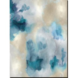 Stretched Canvas Print: Whisper in Aqua IV by Lauren Mitchell: 54x40in found on Bargain Bro Philippines from Art.com for $210.00