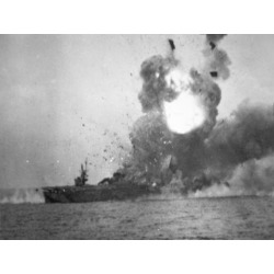 Photographic Print: USS St. Lo Explodes, Battle of Leyte Gulf, October 1944: 24x18in found on Bargain Bro Philippines from Art.com for $30.00