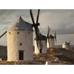 Photographic Print: La Mancha Windmills, Consuegra, Castile-La Mancha Region, Spain by Walter Bibikow: 24x18in
