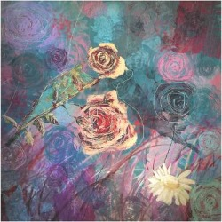 Premium Giclee Print: Pink and Red by Claire Westwood: 9x12in