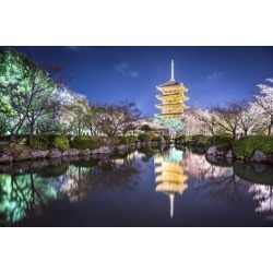 Photographic Print: To-Ji Pagoda in the Springtime in Kyoto, Japan. by SeanPavonePhoto: 24x16in