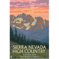 Art Print: Sierra Nevada High Country - Sonora Pass, Tuolumne County, California - Spring Flowers by Lantern Press: 24x18in