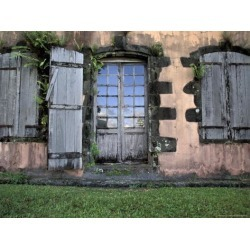 Photographic Print: Historic Sugar Plantation House, Martinique, Caribbean by Walter Bibikow: 24x18in