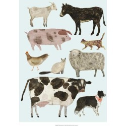 Art Print: Barnyard Buds II by Victoria Borges: 22x18in found on Bargain Bro Philippines from Art.com for $20.00