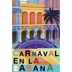 Stretched Canvas Print: Bold Travel - Carnival by Sam Kemp: 48x32in found on Bargain Bro India from Art.com for $355.00