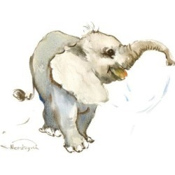 Art Print: Baby Elephant by Suren Nersisyan: 32x24in found on Bargain Bro from Art.com for USD $26.60