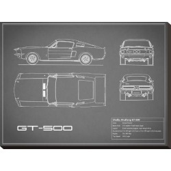 Stretched Canvas Print: Shelby Mustang GT500-Grey by Mark Rogan: 18x24in found on Bargain Bro Philippines from Art.com for $95.00