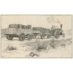 Giclee Print: Whisky Barrels are Transported from Distillery to Railway Station by Steam Traction Engine: 24x18in