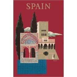 Giclee Print: Spain - Spanish Mosaic Building by Bernard Villemot: 44x30in