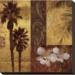 Stretched Canvas Print: Sunset Beach Canvas Print by Keith Mallett: 12x12in found on Bargain Bro India from Art.com for $59.00