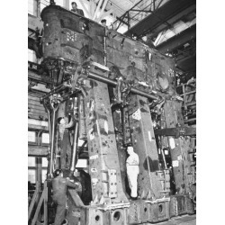Photographic Print: Men Working on 2500 H.P. Triple-Expansion Hendy Engine Soon to Be in Service Powering Liberty Ship: 24x18in