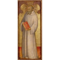 Giclee Print: St. Benedict, Founder of Oldest Order Art Print by Andrea Di Bartolo: 24x8in