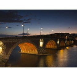 Photographic Print: Pont Neuf Bridge, Toulouse, Haute-Garonne Department, Midi-Pyrenees Region, France: 24x18in