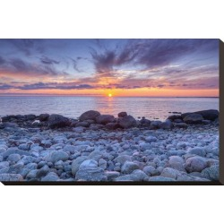 Stretched Canvas Print: Sunset at Green Point in Gros Morne National Park on the West Coast, Newfoundland, Canada: 15x22in found on Bargain Bro Philippines from Art.com for $89.00