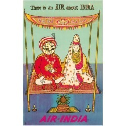 Premium Giclee Print: There is an AIR about INDIA - Indian Maharaja - Air India by Pacifica Island Art: 36x24in
