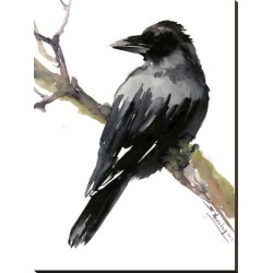 Stretched Canvas Print: Raven by Suren Nersisyan: 48x36in found on Bargain Bro from Art.com for USD $121.60