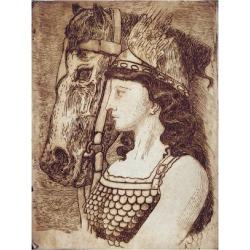 Giclee Print: Brunnhilde, Illustration for 'Die Walkure' : 24x18in found on Bargain Bro India from Art.com for $25.00