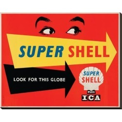 Stretched Canvas Print: Super Shell Plus Ica: 23x29in found on Bargain Bro India from Art.com for $160.00