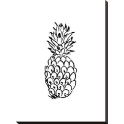 Stretched Canvas Print: Black Pineapple by Jetty Printables: 22x16in found on Bargain Bro Philippines from Art.com for $100.00