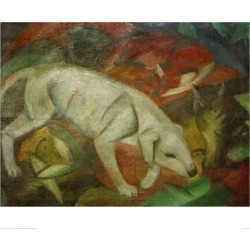 Giclee Print: Dog, cat, fox by Franz Marc: 24x31in