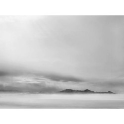 Stretched Canvas Print: Black and White Foggy Mountain by Amanda Abel: 12x16in found on Bargain Bro from Art.com for USD $53.20
