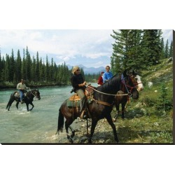 Stretched Canvas Print: Riding in Banff National Park, Alberta, Canada: 29x44in found on Bargain Bro Philippines from Art.com for $200.00