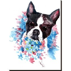 Stretched Canvas Print: Boston Terrier by Suren Nersisyan: 32x24in found on Bargain Bro from Art.com for USD $87.40