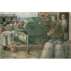 Giclee Print: The Fight for the Harvest: Sorting of Seeds in a Mordva Collective Farm, 1933 by Jeroushew Jeroushew: 24x16in