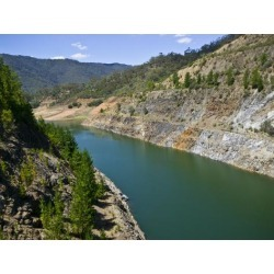 Photographic Print: Water Levels in Reservoirs Fall Dramatically in Prolonged Droughts by Jason Edwards: 16x12in