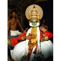 Photographic Print: Kathakali, the Classical Dance-Drama of Kerala Region in Trivandrum, Kerala, India: 24x18in