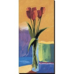 Stretched Canvas Print: Study in Orange by Brenda Bredvik: 36x18in found on Bargain Bro India from Art.com for $135.00