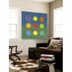 Loft Art: Circle Grid II by Darlene Kulig: 54x54in found on Bargain Bro from Art.com for USD $380.00