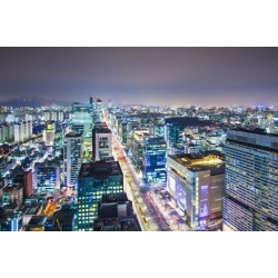 Photographic Print: Seoul, South Korea Evening Skyline. by SeanPavonePhoto: 24x16in