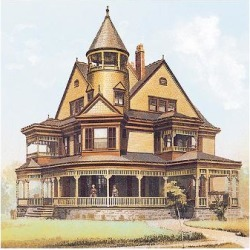 Art Print: Victorian House, No. 8: 12x16in