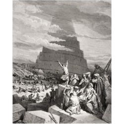 Giclee Print: The Confusion of Tongues, Genesis 11:7-9, Illustration from Dore's 'The Holy Bible', Engraved by… by Gustave Doré : 24x18in