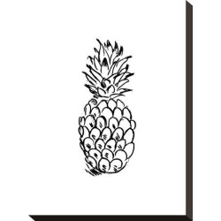 Stretched Canvas Print: Black Pineapple by Jetty Printables: 15x11in found on Bargain Bro Philippines from Art.com for $75.00
