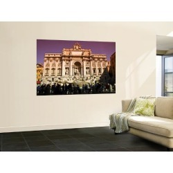 Wall Mural: Crowds at Trevi Fountain Wall Decal by Glenn Beanland: 72x48in