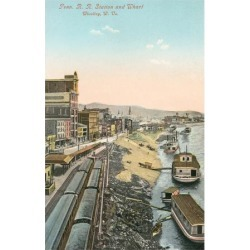 Art Print: Railway Station, Wheeling, West Virginia Poster: 24x18in