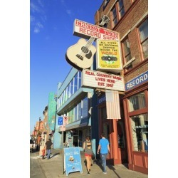 Photographic Print: Music Store on Broadway Street, Nashville, Tennessee, United States of America, North America by Richard Cummins: 24x16in