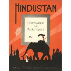 Art Print: Sheet Music for Hindustan: 24x18in