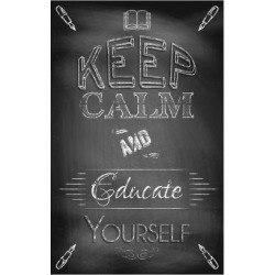 Art Print: Keep Calm and Educate Yourself by Bratovanov: 24x16in