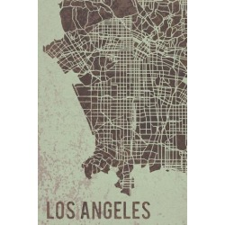 Giclee Print: LA Street Map by Tom Frazier: 36x24in found on Bargain Bro from Art.com for USD $53.20